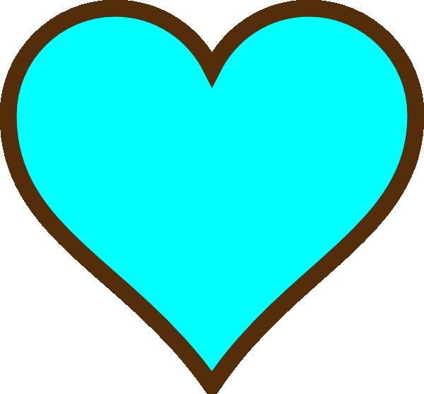 Teal Heart Clip Art Teal Heart Clipart - C...