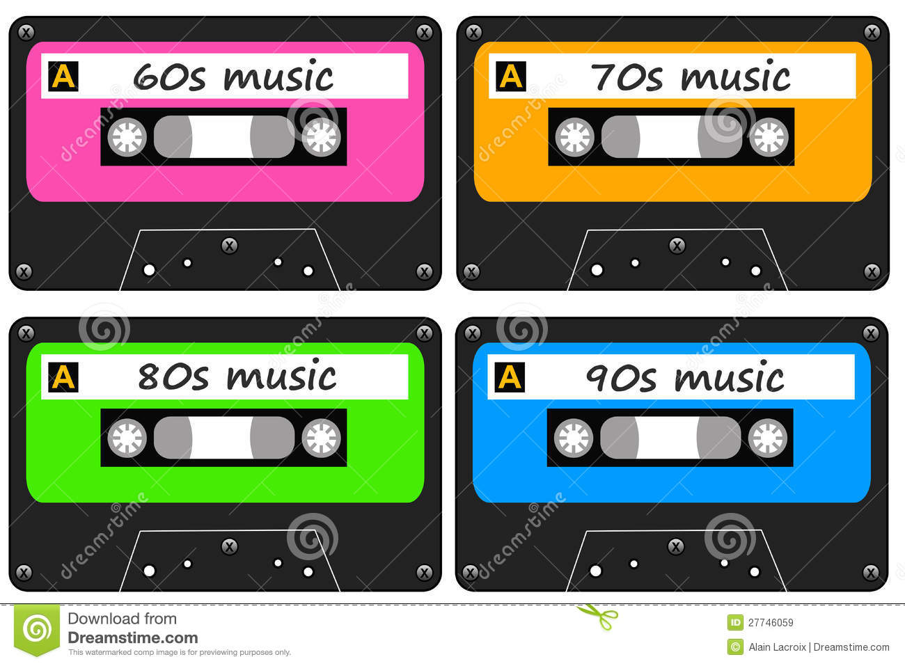 Music Cassettes With Golden Oldies From The 60s 70s 80s And 90s