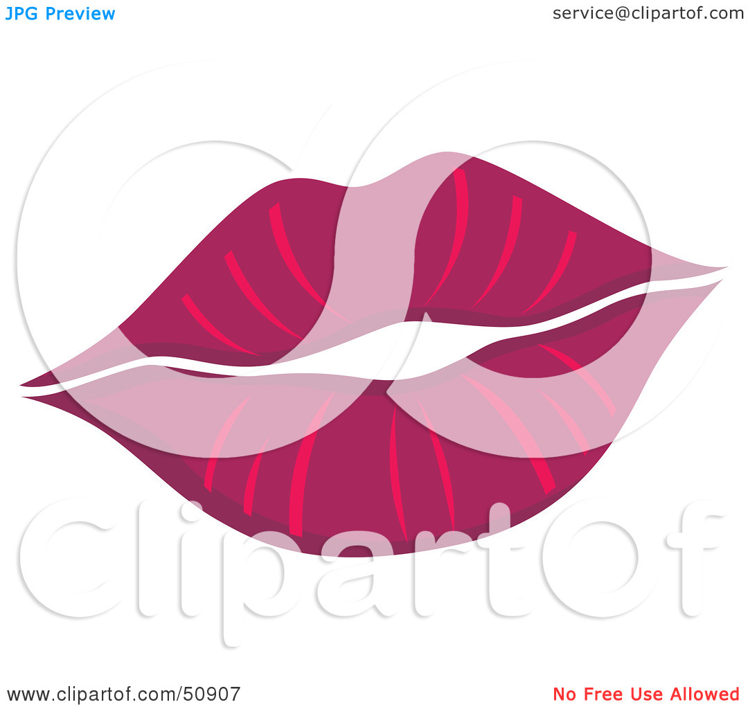 Royalty Free  Rf  Clipart Illustration Of Women S Lips   Version 2 By