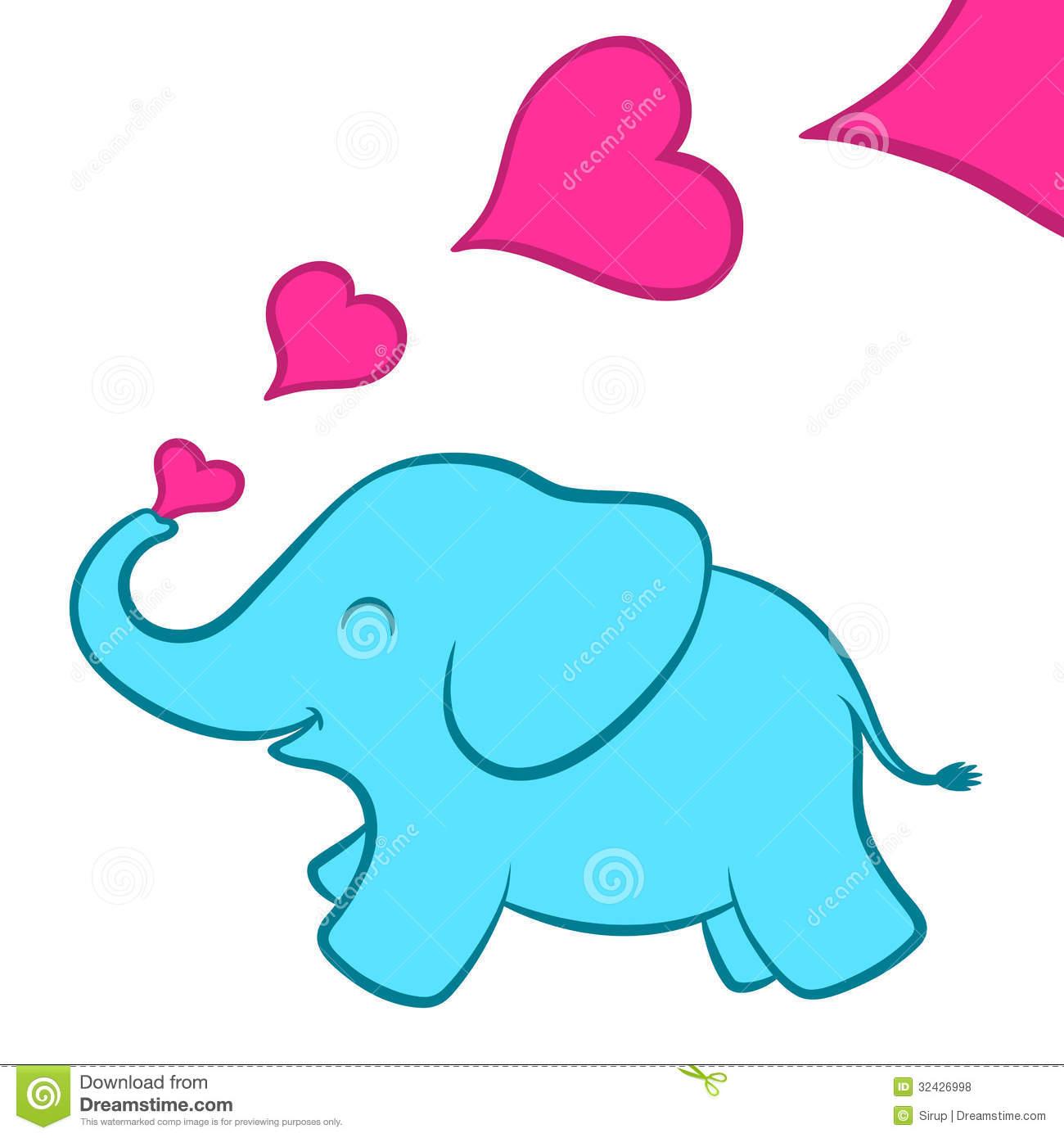 Baby blue elephant clip art