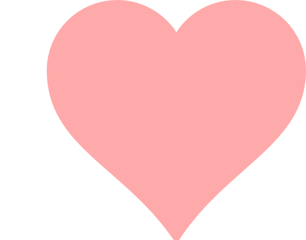 Pink Heart Outline Clipart - Clipart Suggest