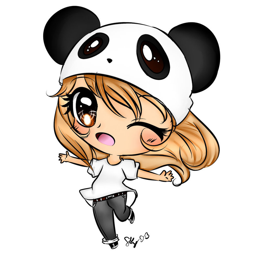 Chibi Panda Lover Girl By Mia1860 On Deviantart