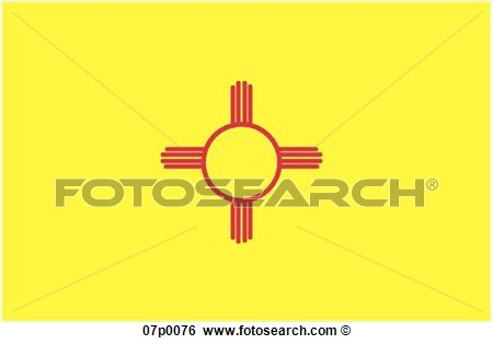 Clip Art   New Mexico Flag  Fotosearch   Search Clipart Illustration