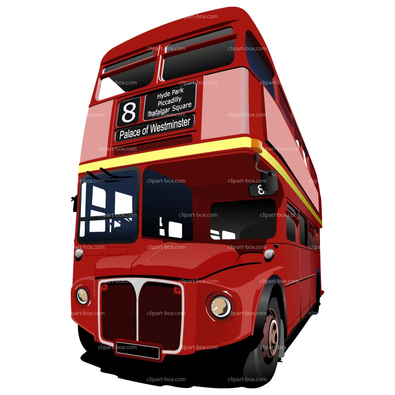 Clipart Double Decker Bus   Royalty Free Vector Design