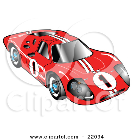 Clipart Illustration Of A Red