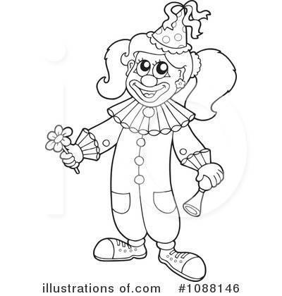 Clown Clipart  1088146   Illustration By Visekart