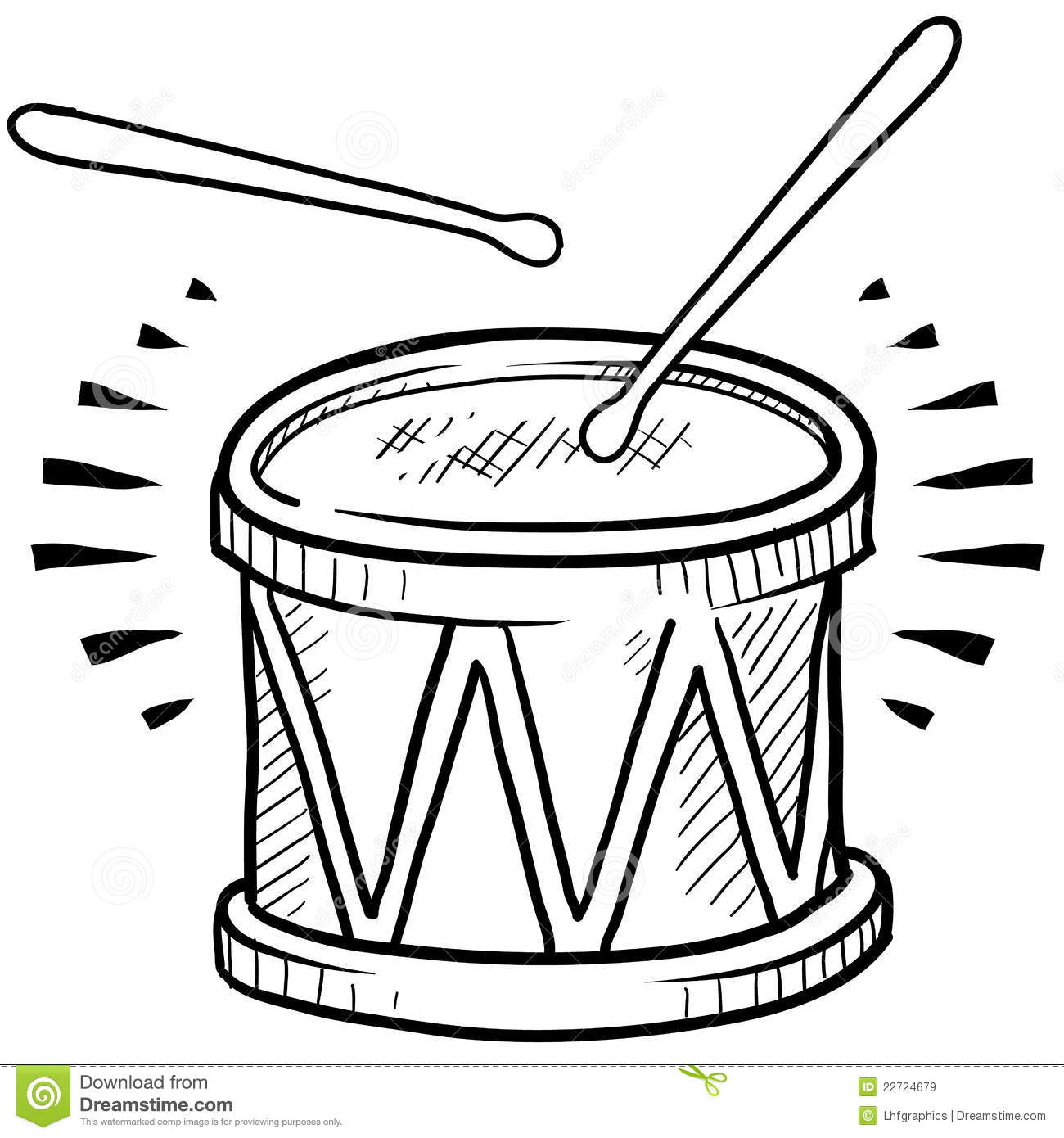 Drum Sketch Royalty Free Stock Images   Image  22724679