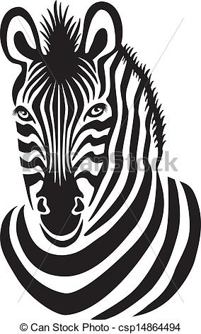 zebra face clipart