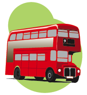 London Bus Clipart 02