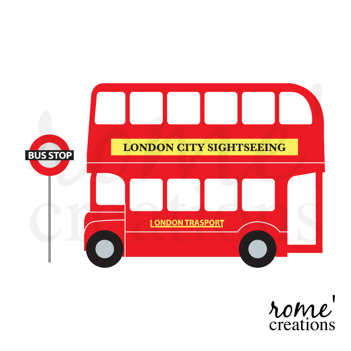 London Bus Clipart London Double Decker Bus