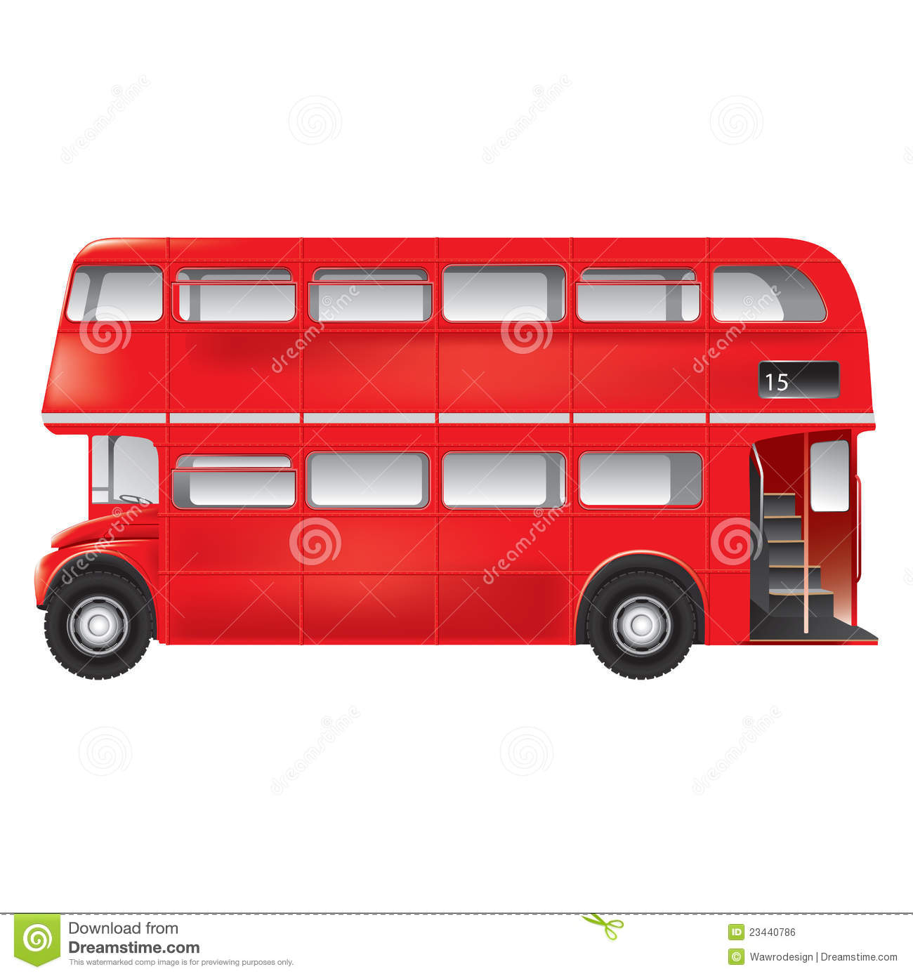 London Bus Clipart London Symbol   Red Bus