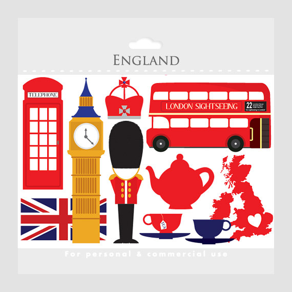 London Clipart   England Uk Clip Art Travel Clipart Tea Bus