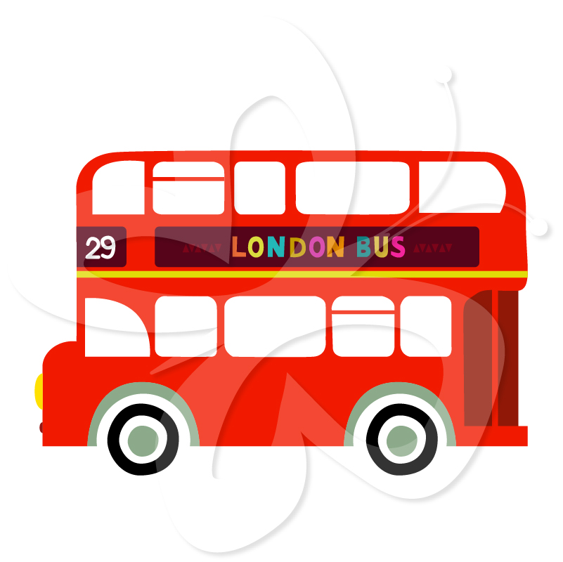 London Double Decker Bus   Creative Clipart Collection