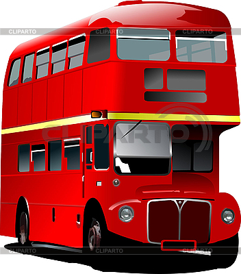 London Double Decker Red Bus  Vector Illustration     Leonid Dorfman