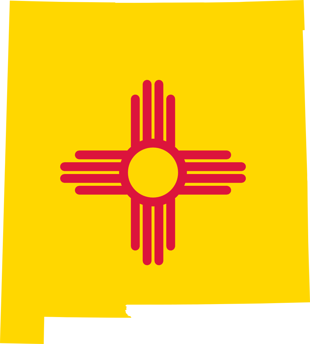 New Mexico Clipart Flag Map Of New Mexico 999px Png