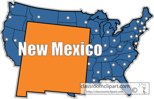 New Mexico   New Mexico State Map 23   Classroom Clipart