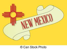 New Mexico State Flag Stock Illustration Images  497 New Mexico State