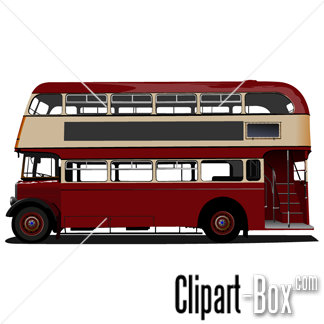 Related London Bus   Side View Cliparts