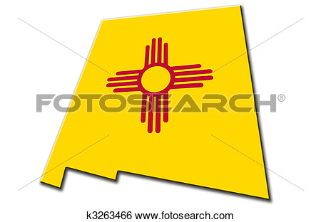 Stock Illustration Of New Mexico K3263466   Search Clip Art Drawings