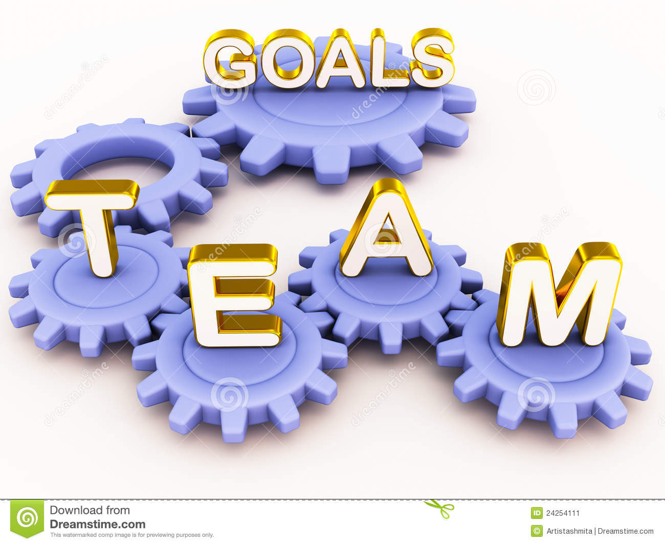 Team Goals Stock Image   Image  24254111