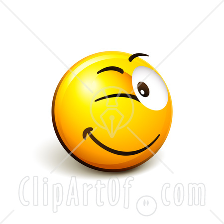 Wink Smiley Face Clip Art   Free Vector Download
