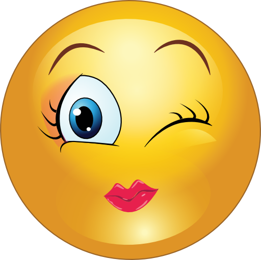 Winky Girl Smiley Emoticon Clipart   I2clipart   Royalty Free Public