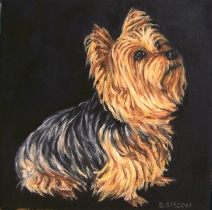 Yorkshire Terrier Oil Painting Dog Pet Art Commissioned Yorkie