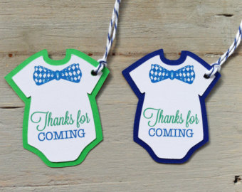 12 Little Man Onesie Ties And Bow T Ies Thank You Favor Tags  Baby