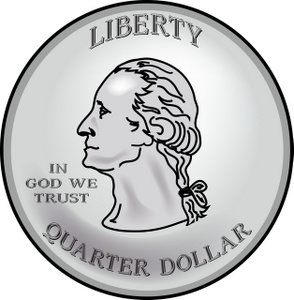 Back Of Quarter Clipart Money Clipart Image  Quarter