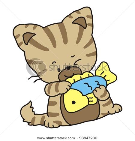 Cat and Fish Clip Art – Cliparts