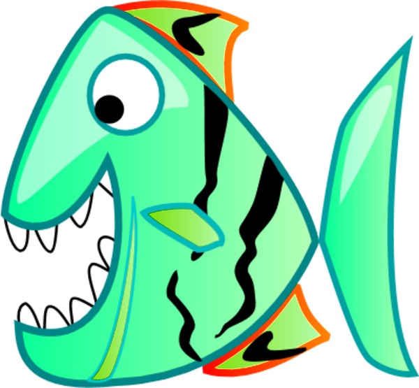 Fish Cartoon Smile Funny Vector Clip Art