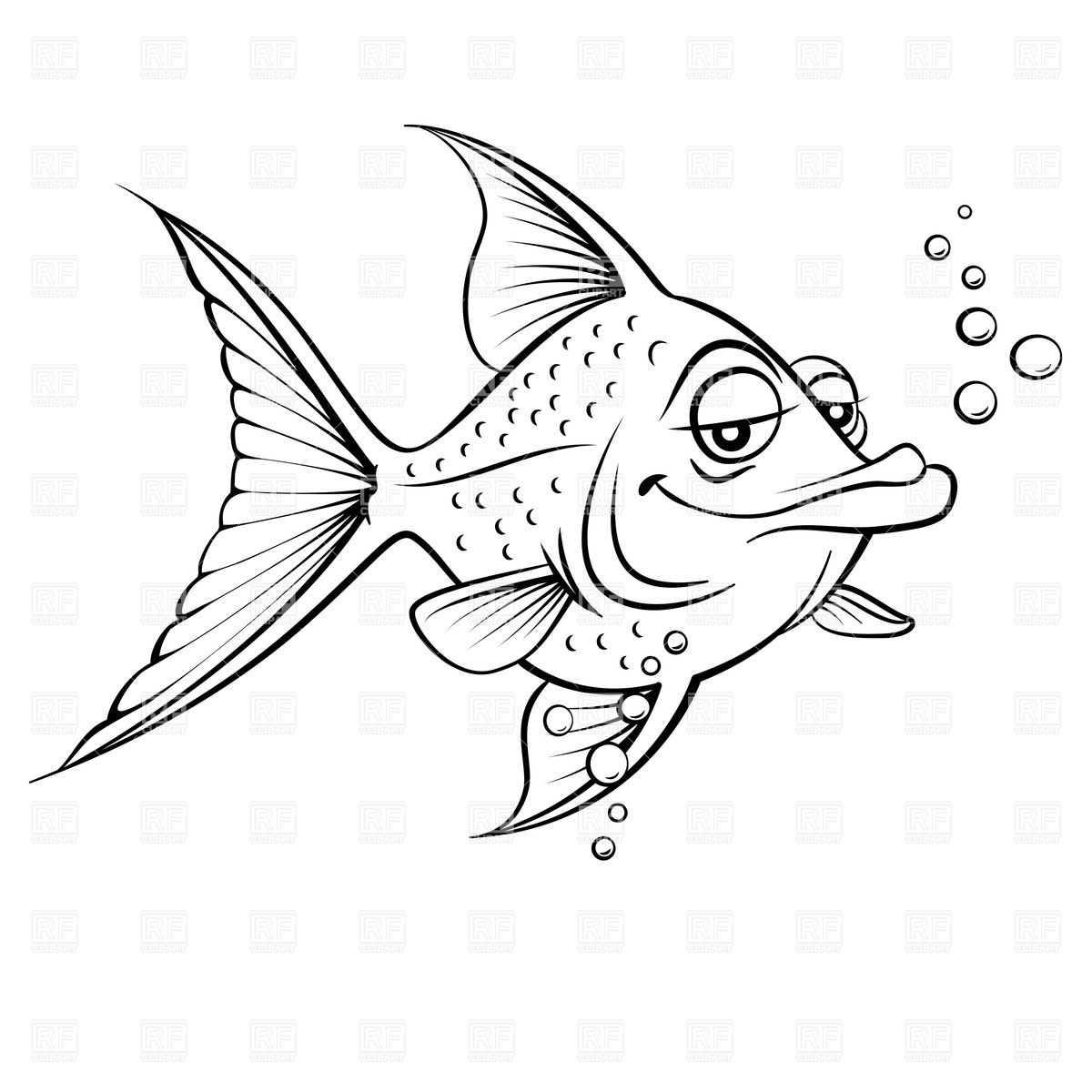 Funny fish clipart clipart suggest for Cartoon fish drawing