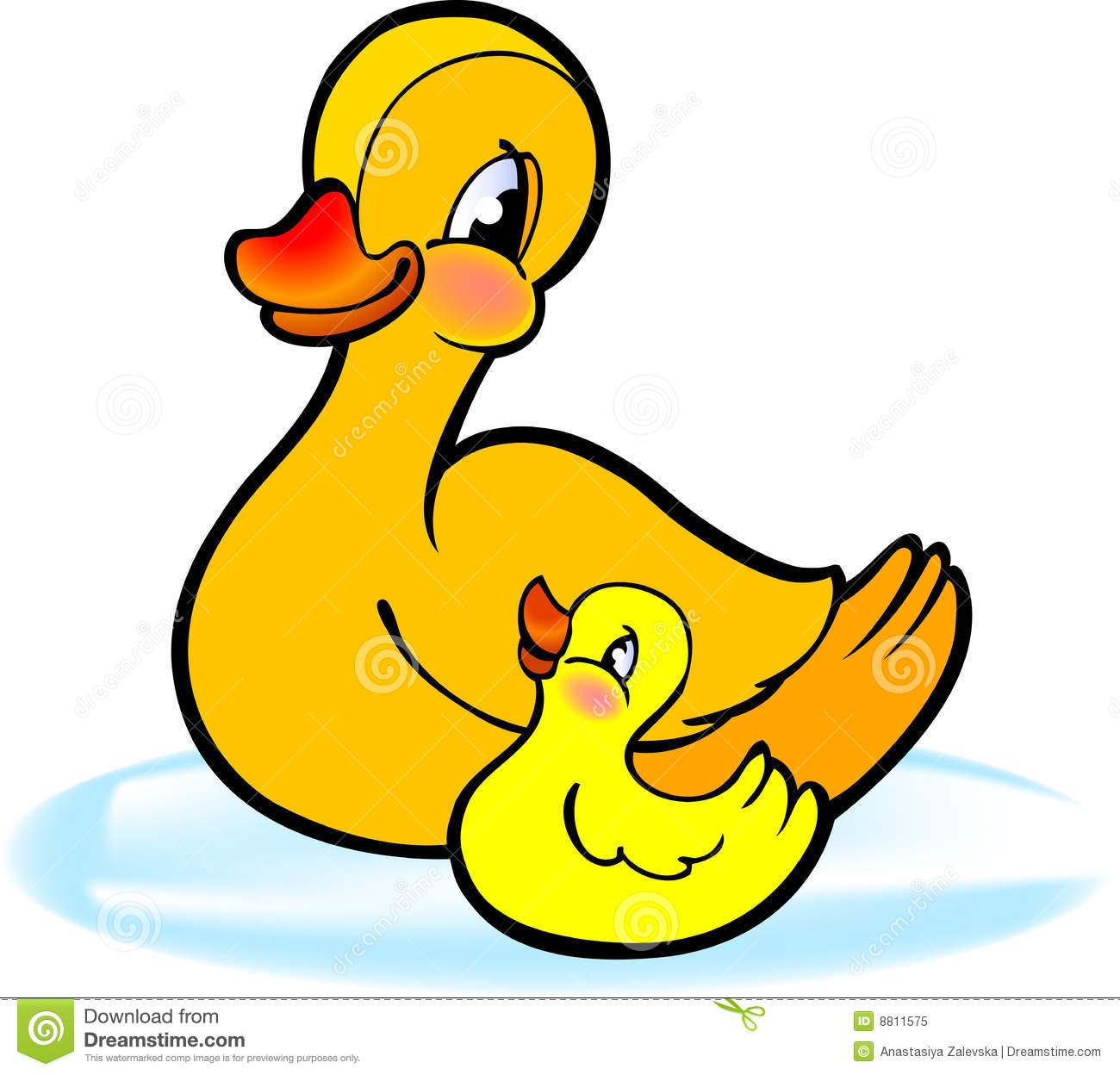 Duck in Water Clip Art