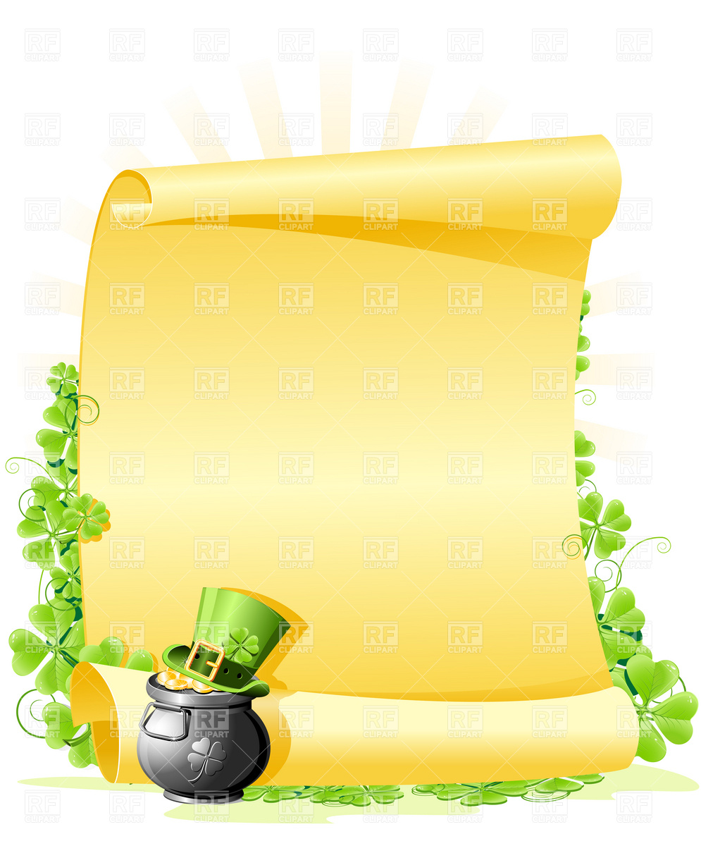 St  Patrick S Day Blank Letter 4852 Holiday Download Royalty Free
