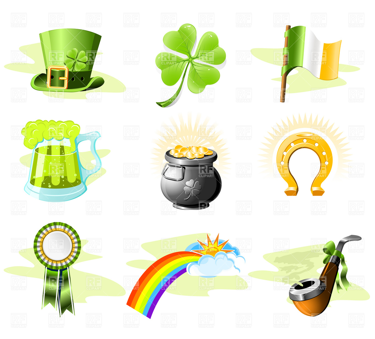 St  Patrick S Day Icon Set 4850 Download Royalty Free Vector Clipart
