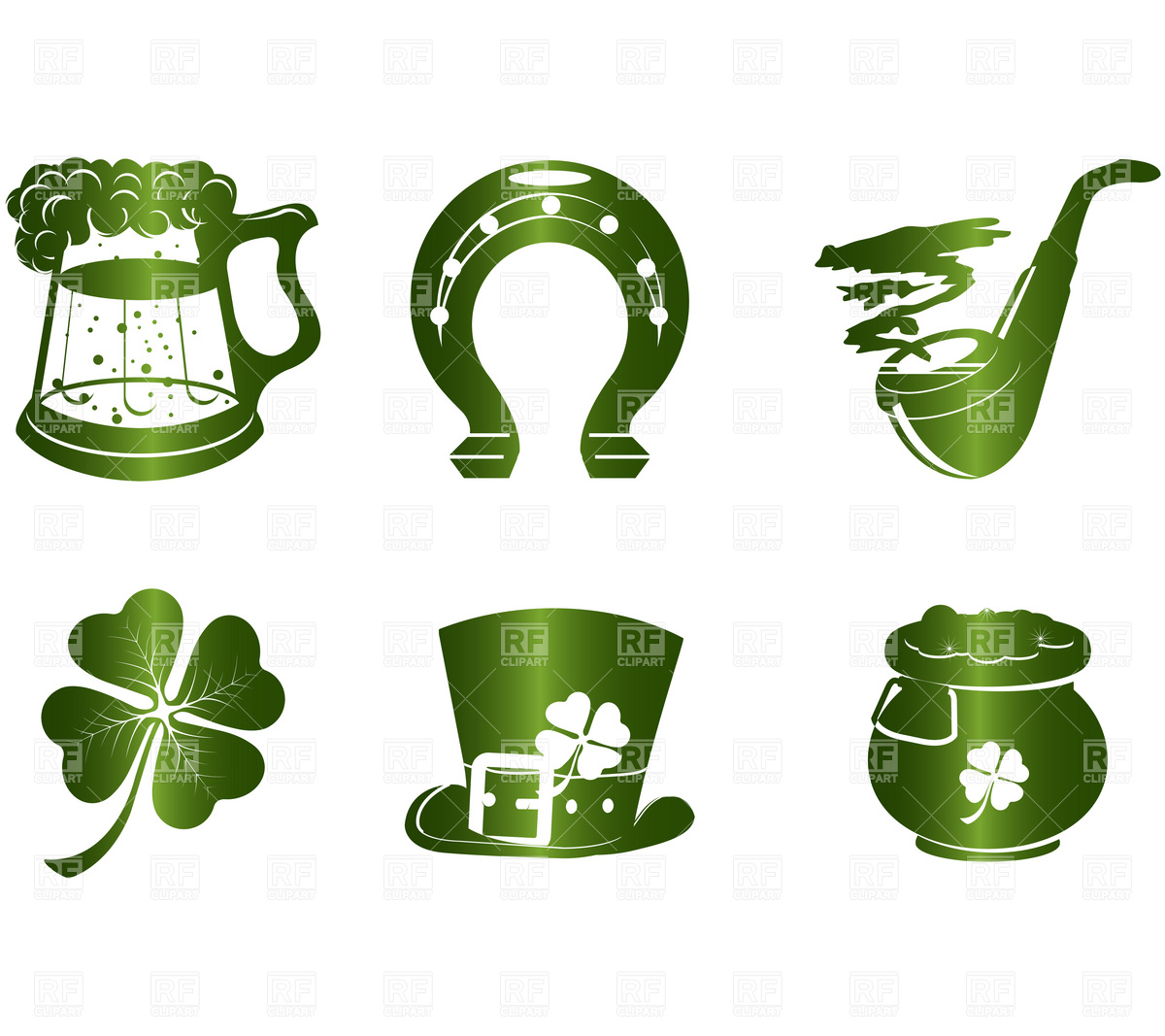 St  Patrick S Day Icons Download Royalty Free Vector Clipart  Eps