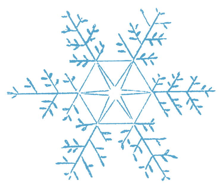 Vintage Snowflake Clipart - Clipart Kid
