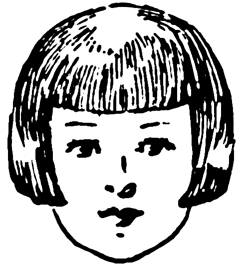 Bangs   Http   Www Wpclipart Com People Bodypart Hair Girl Hair Bangs