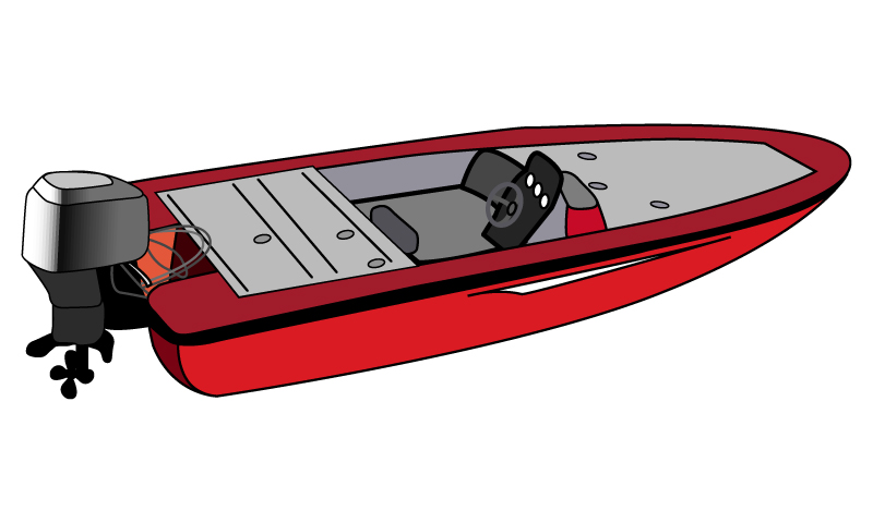 мотор лодка рисовать