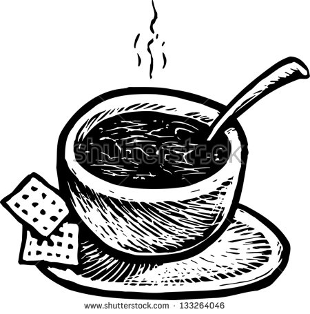 Bowl Of Chili Clip Art Black And White Black And White Vector