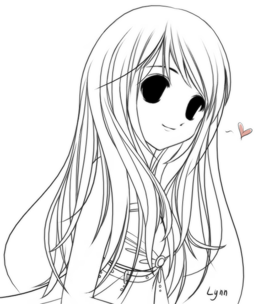 Girl With Long Straight Hair By Whitemoonlight On Deviantart