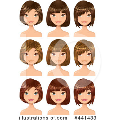 Hair Clipart  441433 By Melisende Vector   Royalty Free  Rf  Stock
