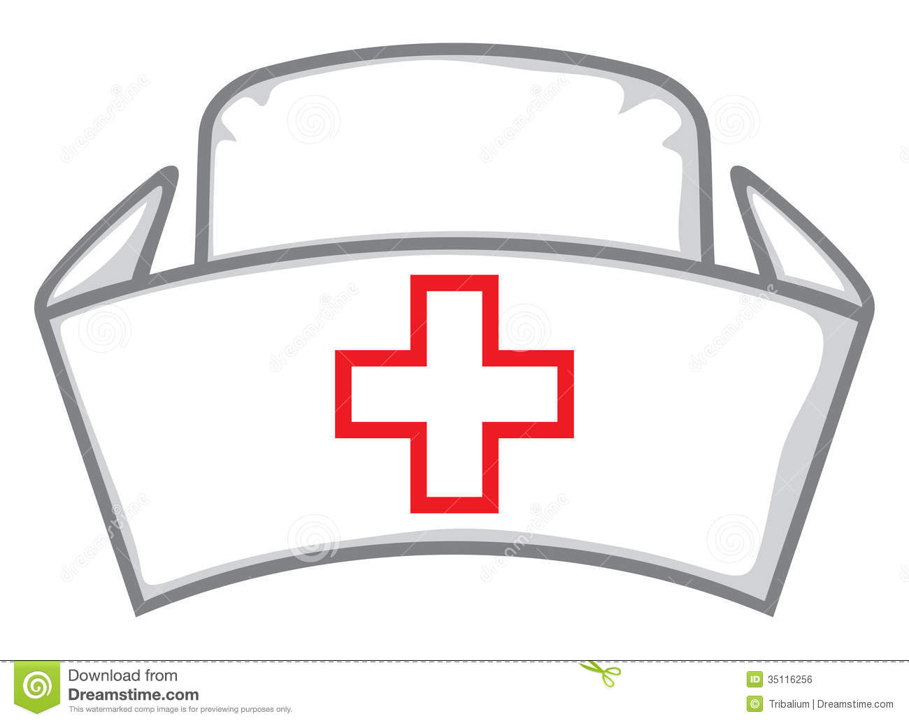 Medical White Hat Nurses Hat