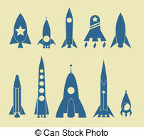 Rocket Icon Stock Illustrations