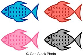 Series Of Fish For Fish Shop Stock Illustration