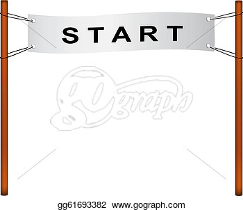 Vector Illustration   Starting Line  Stock Clip Art Gg61693382