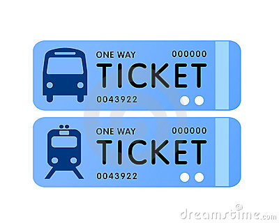 Vectored Illustrations Of Train And Bus Coach Tickets Useful For Web