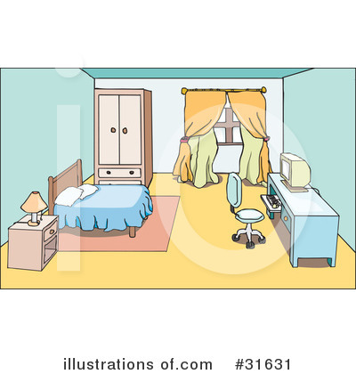 Bedroom On Rf Room Clipart Illustration By Platyplus Art Stock Sample