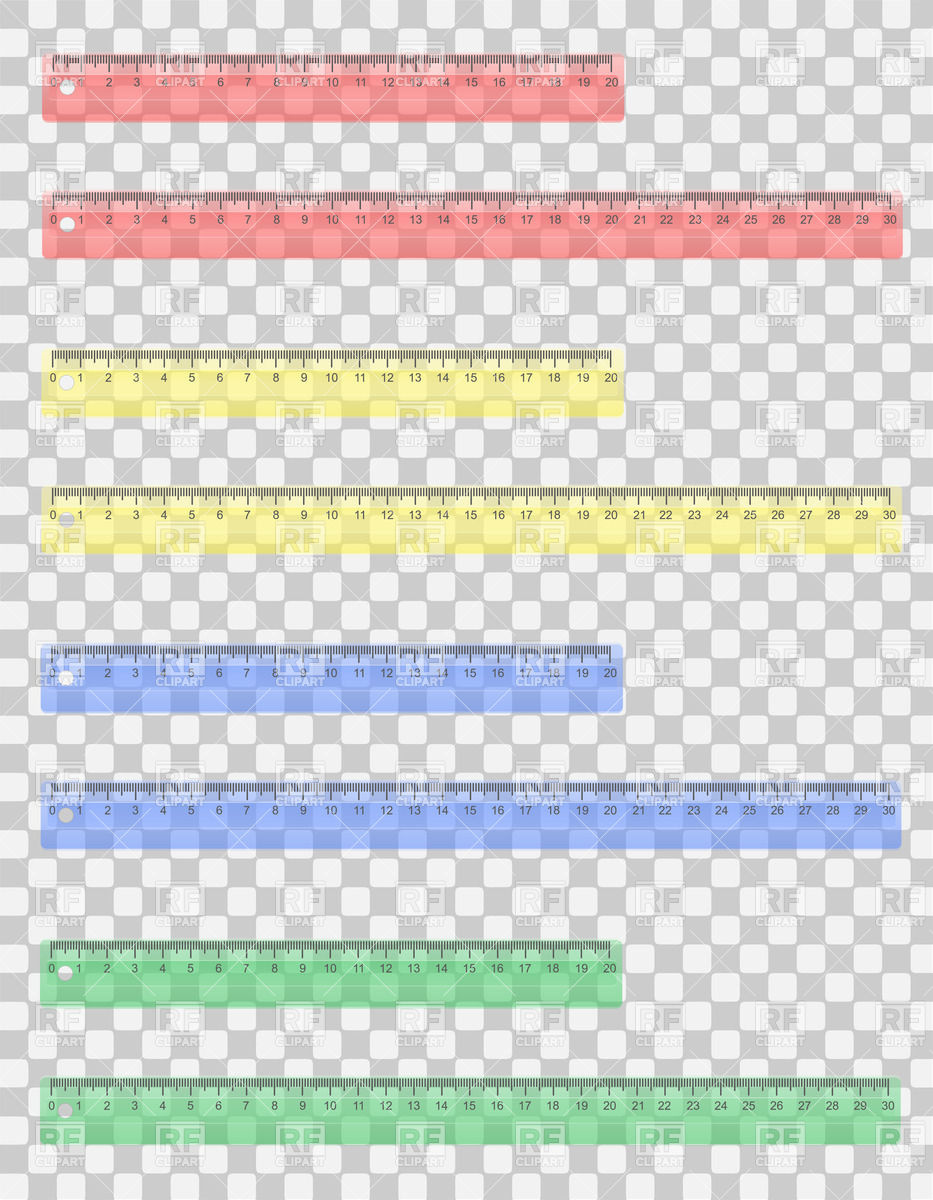 Colored Rulers 38101 Download Royalty Free Vector Clipart  Eps