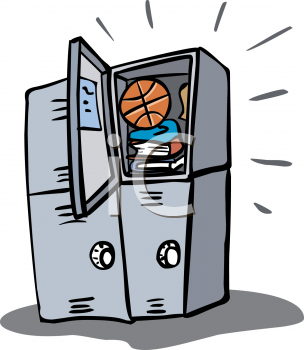 Sports Lockers Clip Art